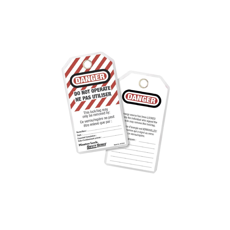 MASTER LOCK accessoires et verrous de consignation 497ABLC étiquettes de cadenassage