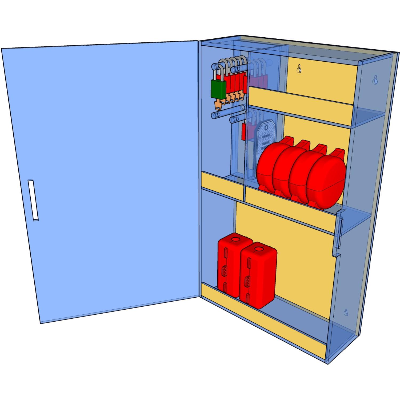 Postes de cadenassage en polycarbonate BLE-1729