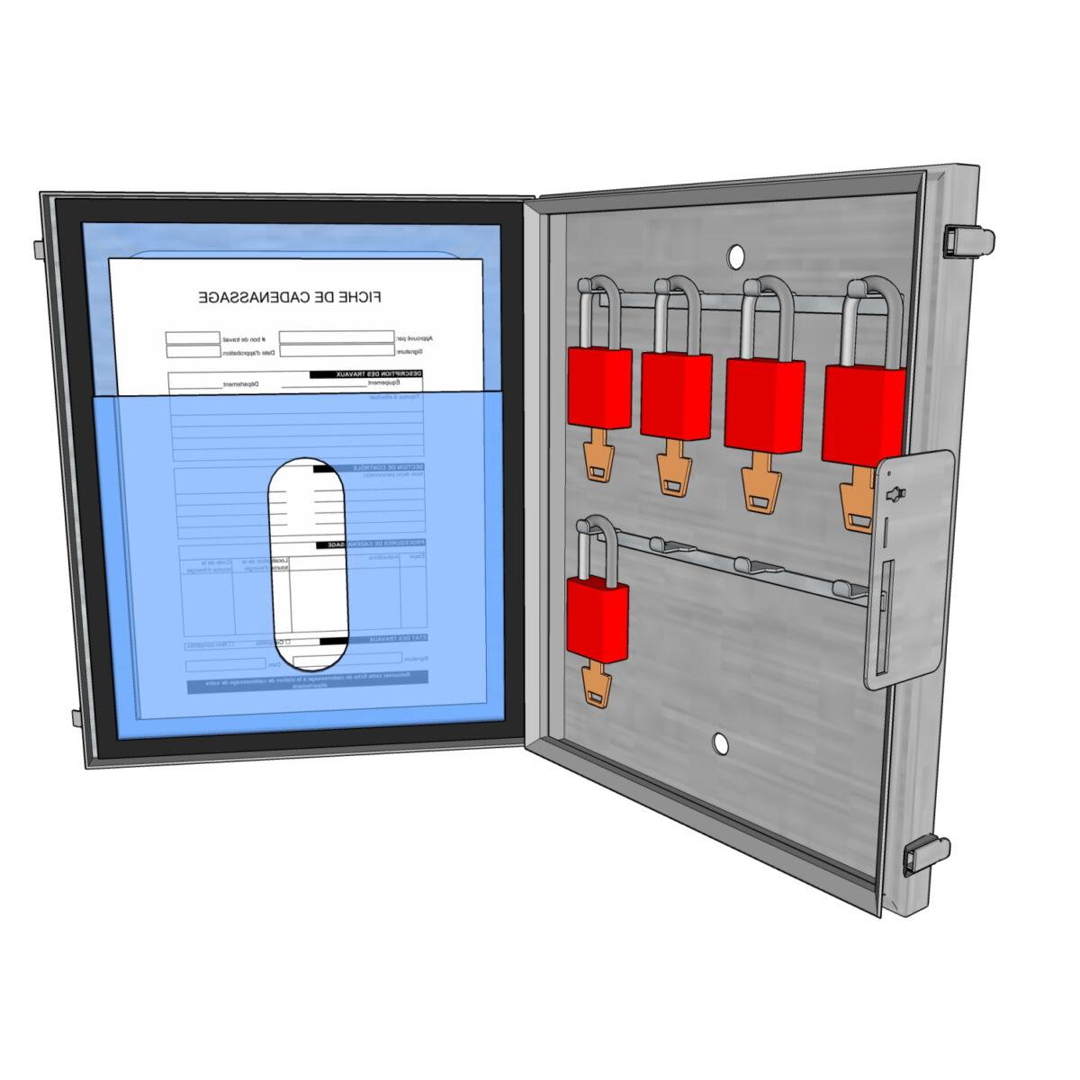 Postes de cadenassage en acier inoxydable BSV-1113-8C-PF