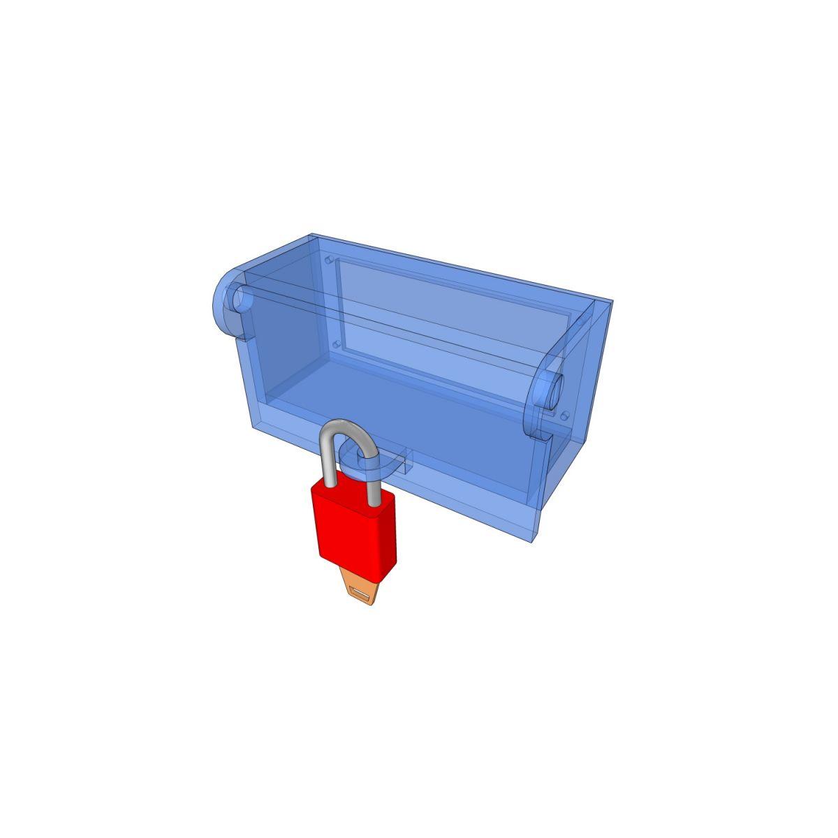 Postes de cadenassage en polycarbonate | BLC-BOR-OUV 2