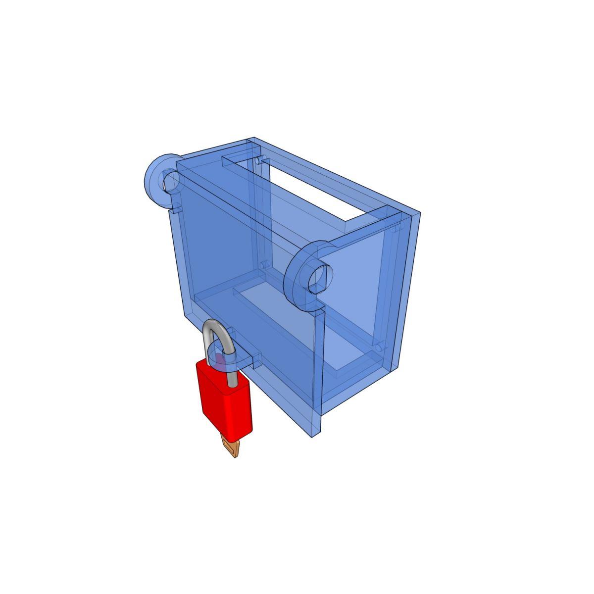Postes de cadenassage en polycarbonate | BLC-BOR-OUV ES8812