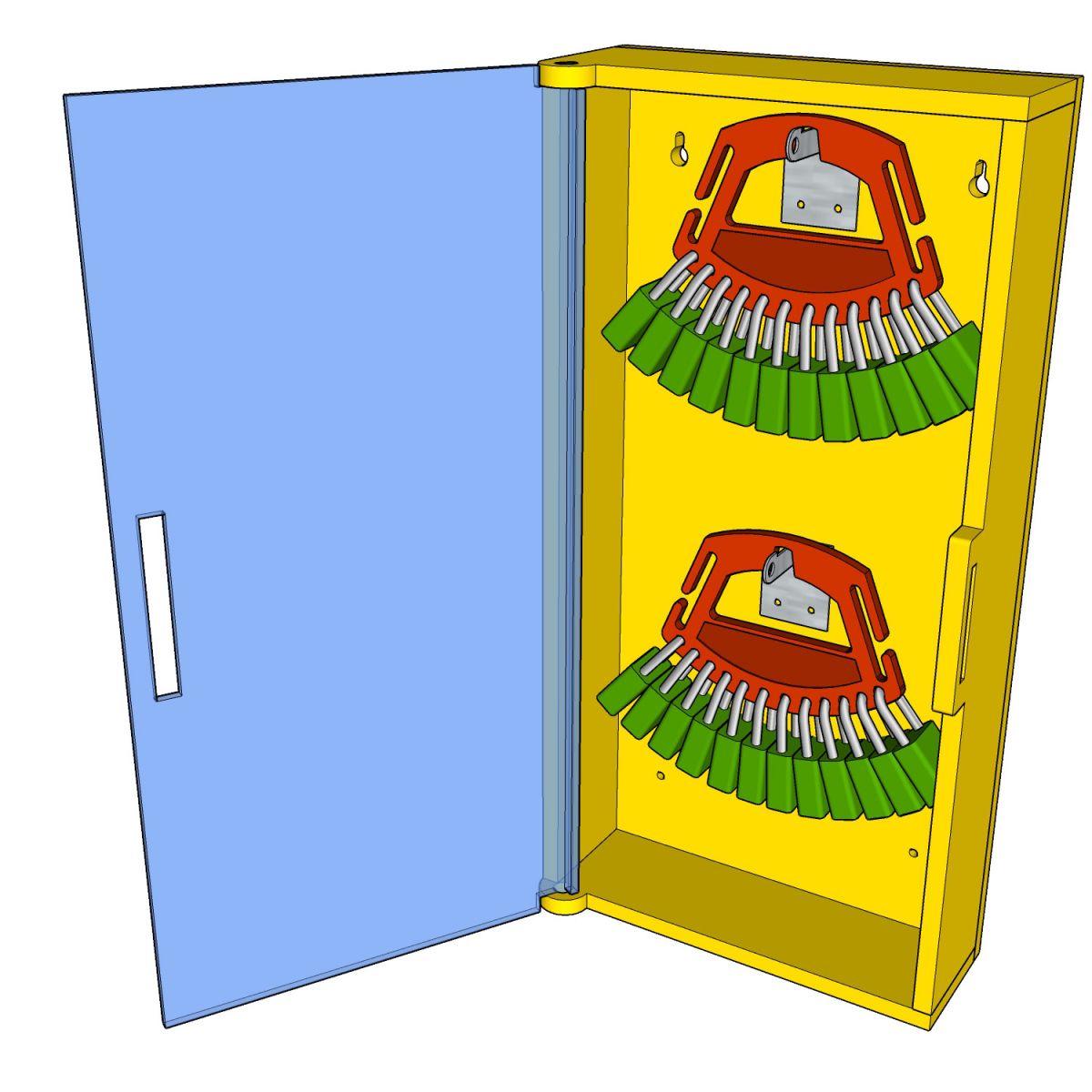 Postes de cadenassage en polyéthylène jaune vif | BPC-1224-2V et BPC-2326-4V