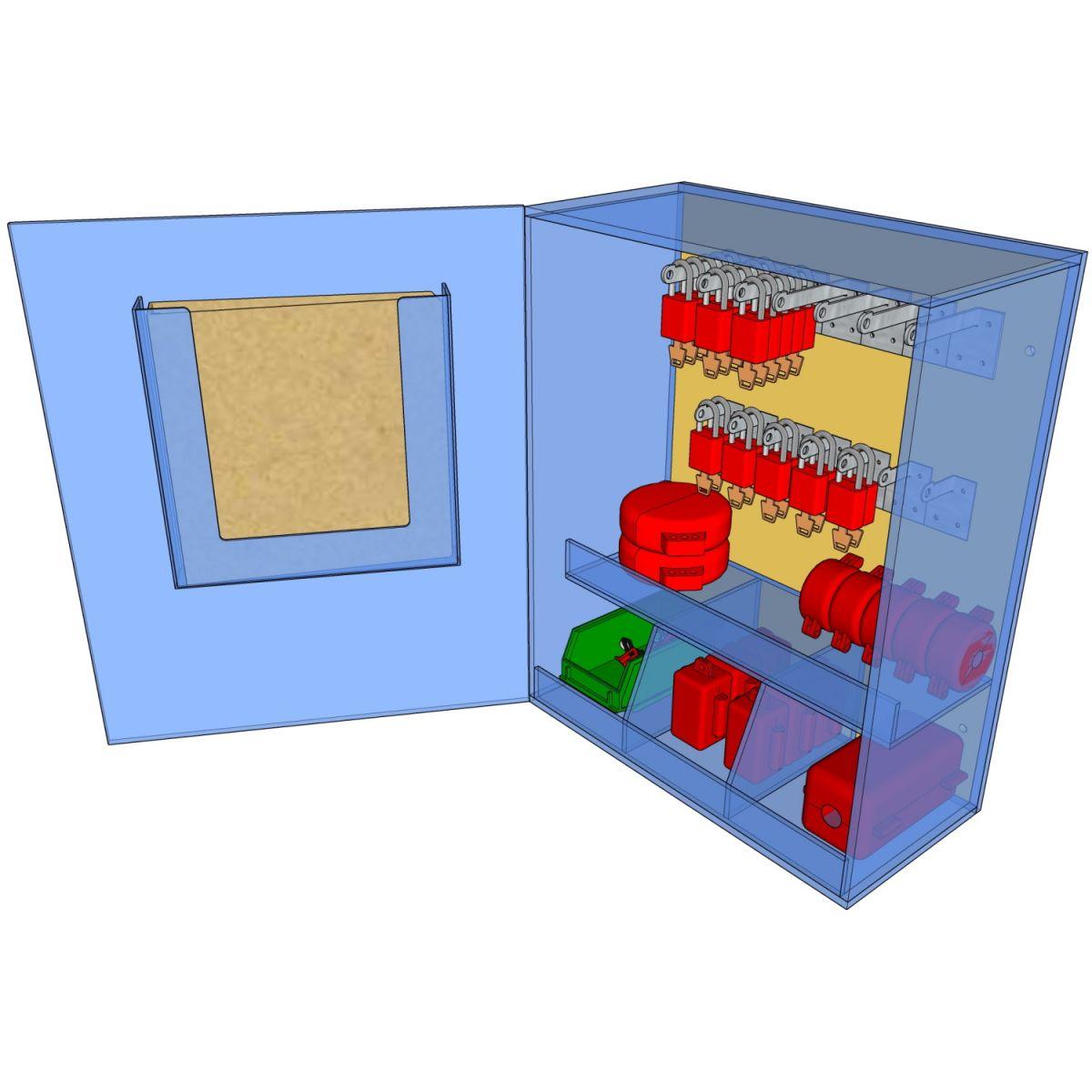 Postes de cadenassage en polycarbonate | PLC-1824